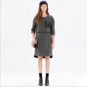 Madewell wool dress. small. Lined. Gray/Black